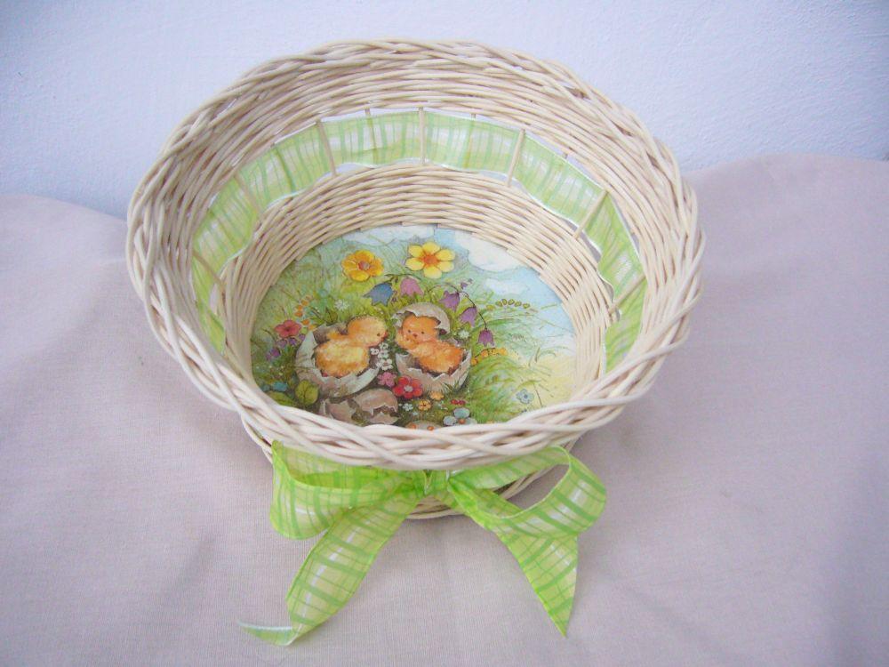 Košík z pedigu - dárek, dekorace